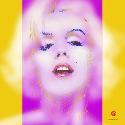 Marilyn In The Pink Poster by David Davies