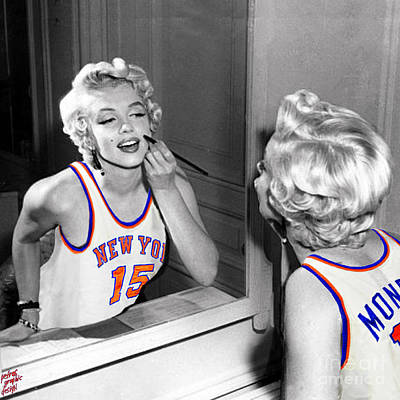 Marilyn Monroe Nyk Poster by Petros Graphic Design