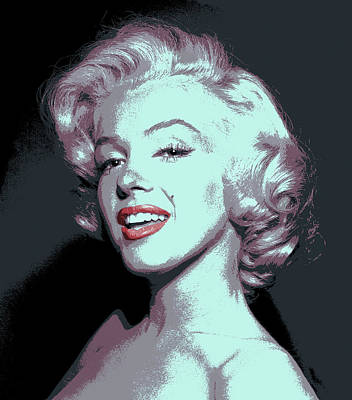 Marilyn Monroe Pop Art Poster by Daniel Hagerman