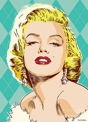 Marilyn Monroe Pop Art Poster by Jim Zahniser