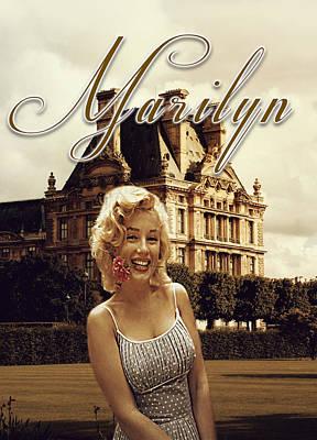 Marilyn Paris Monroe Poster by Greg Sharpe