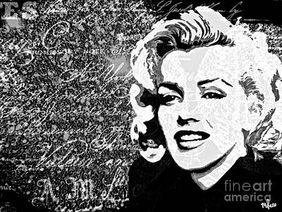 Marilyn You Were Meant To Be Loved Poster by Saundra Myles