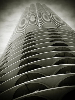Marina City Chicago Il Poster by Christine Till