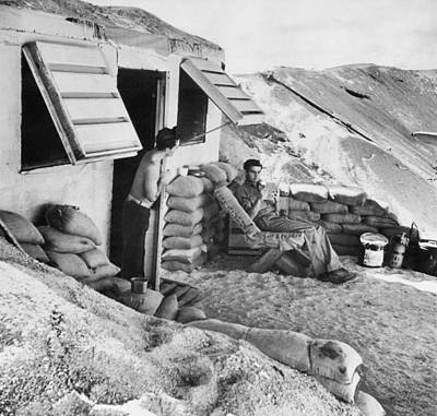 Marines Relax On Midway Island Poster by Underwood Archives