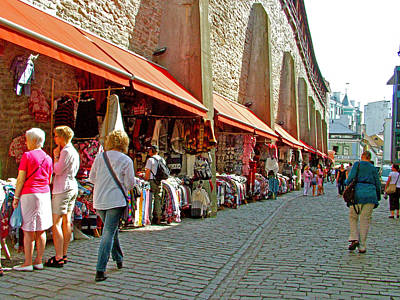 Market In Daytime In Old Town Tallinn-estonia Poster by Ruth Hager