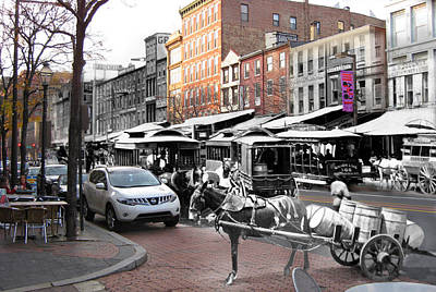 Market Street In Old City Poster by Eric Nagy