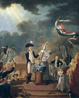 Marquis De La Fayette In The Federation Poster by Everett