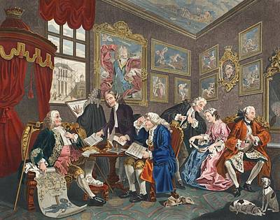 Marriage A La Mode, Plate I, The Poster by William Hogarth