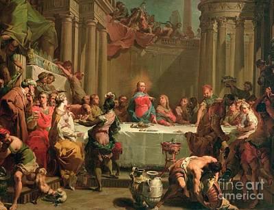 Marriage Feast At Cana Poster by Gaetano Gandolfi