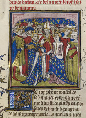 Marriage Of King Philip IIi Of France Poster by British Library