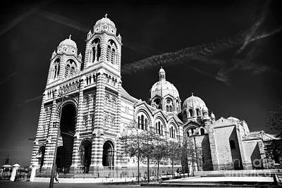 Marseille Cathedral Poster by John Rizzuto