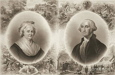 Martha And George Washington 1876 Poster by Padre Art