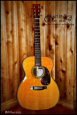 Martin Guitar - The Eric Clapton Limited Edition Poster by Bill Cannon
