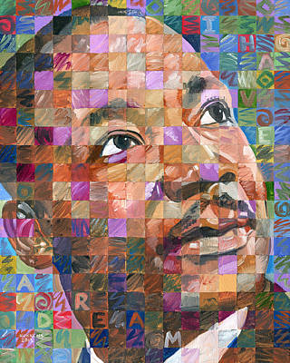 Martin Luther King Jr. - Pop Art Portrait #25 Poster by Randal Huiskens