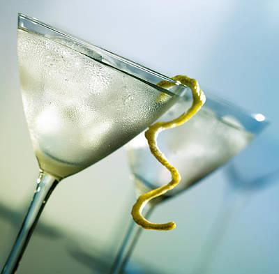 Martini With Lemon Peel Poster by Johan Swanepoel