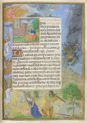 Martyrdom Of St Barbara Poster by British Library