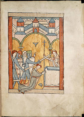 Martyrdom Of Thomas Becket Poster by British Library