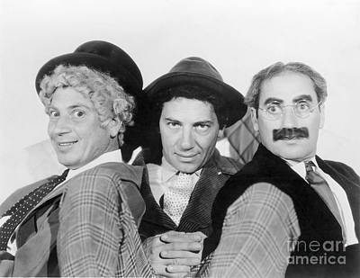 Marx Brothers - A Night At The Opera - Groucho Harpo And Chico Marx Poster by MMG Archive Prints