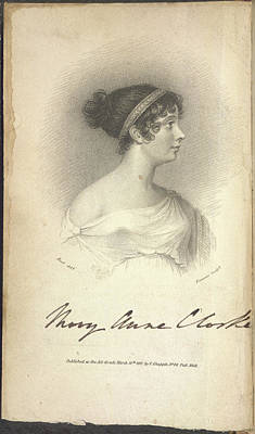 Mary Anne Clarke Poster by British Library