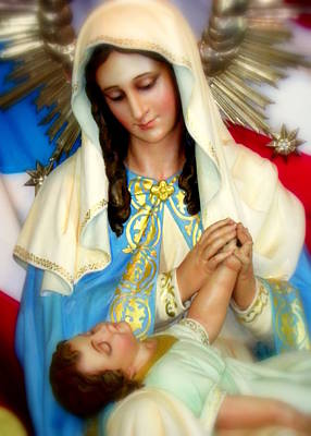 Mother Mary Poster by Karen Wiles