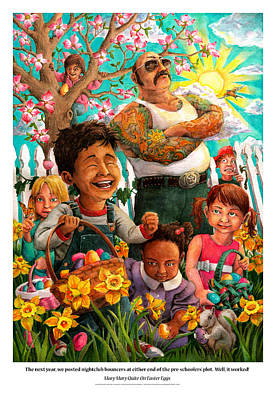 Mary Mary Quite On Easter Eggs Poster by David Condry