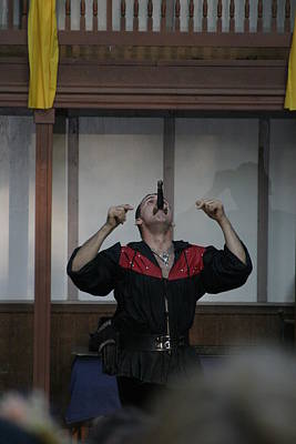 Maryland Renaissance Festival - Johnny Fox Sword Swallower - 1212111 Poster by DC Photographer