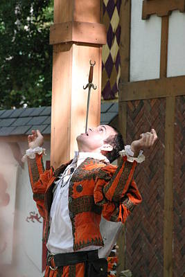 Maryland Renaissance Festival - Johnny Fox Sword Swallower - 121229 Poster by DC Photographer