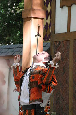 Maryland Renaissance Festival - Johnny Fox Sword Swallower - 121230 Poster by DC Photographer