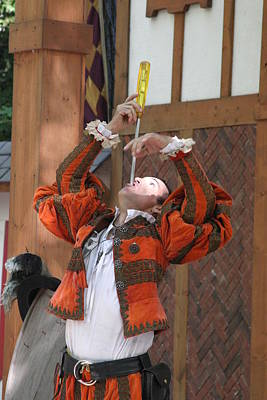 Maryland Renaissance Festival - Johnny Fox Sword Swallower - 121243 Poster by DC Photographer