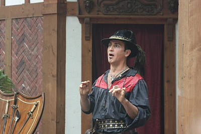 Maryland Renaissance Festival - Johnny Fox Sword Swallower - 121261 Poster by DC Photographer