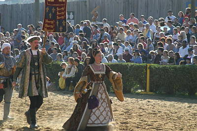 Maryland Renaissance Festival - Jousting And Sword Fighting - 1212116 Poster by DC Photographer