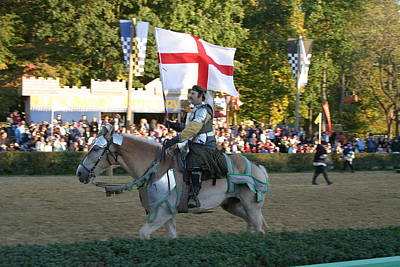 Maryland Renaissance Festival - Jousting And Sword Fighting - 121214 Poster by DC Photographer