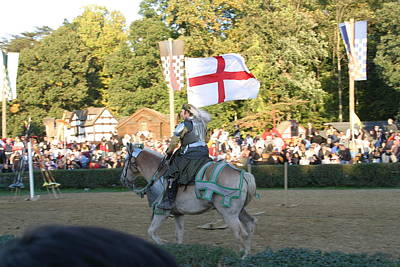 Maryland Renaissance Festival - Jousting And Sword Fighting - 121216 Poster by DC Photographer