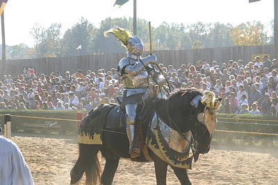 Maryland Renaissance Festival - Jousting And Sword Fighting - 1212171 Poster by DC Photographer