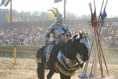 Maryland Renaissance Festival - Jousting And Sword Fighting - 1212172 Poster by DC Photographer