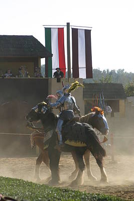 Maryland Renaissance Festival - Jousting And Sword Fighting - 1212175 Poster by DC Photographer