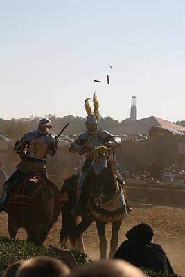 Maryland Renaissance Festival - Jousting And Sword Fighting - 1212182 Poster by DC Photographer