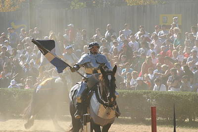 Maryland Renaissance Festival - Jousting And Sword Fighting - 1212204 Poster by DC Photographer