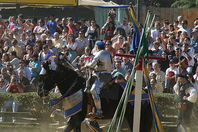 Maryland Renaissance Festival - Jousting And Sword Fighting - 1212208 Poster by DC Photographer