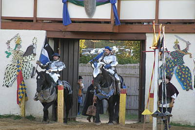 Maryland Renaissance Festival - Jousting And Sword Fighting - 121226 Poster by DC Photographer