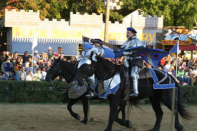 Maryland Renaissance Festival - Jousting And Sword Fighting - 121228 Poster by DC Photographer