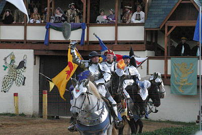 Maryland Renaissance Festival - Jousting And Sword Fighting - 121257 Poster by DC Photographer