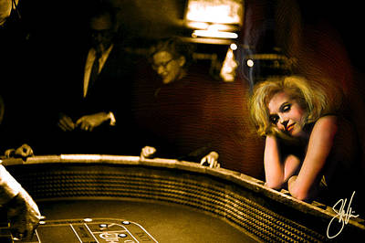 Marylin Monroe Las Vegas Poster by Steve Will
