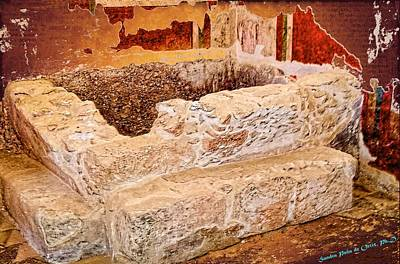 Masada Bathing Quarters Built By King Herod The Great Poster by Sandra Pena de Ortiz