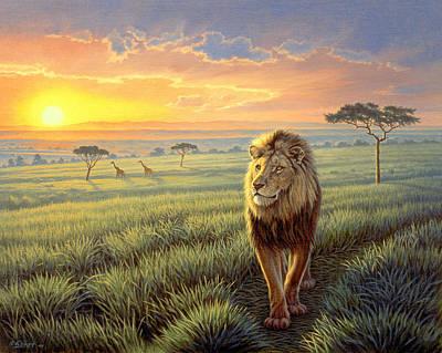 Masai Mara Sunset Poster by Paul Krapf
