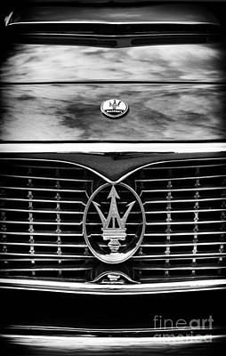 Maserati 3500 Gt Monochrome  Poster by Tim Gainey