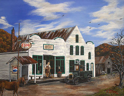 Mast General Store Poster by Julia Robinson