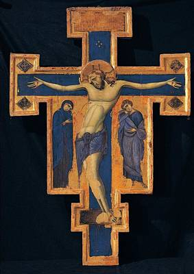 Master Of The Blue Crosses, Crucifix Poster by Everett