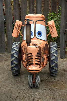 Mater's Tractor Poster by Ricky Barnard