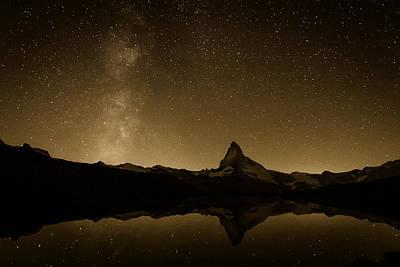 Matterhorn And Milky Way Poster by Konstantin Dikovsky